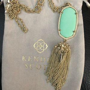 Kendra Scott mint green Rayne necklace